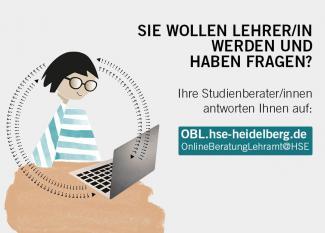 Grafik zum digitalen Beratungsportal für Studierende mit Berufsziel Lehrer/in an der Universität und der PH Heidelberg