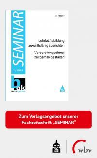 """Banner mit Link zum Verlagsangebot der bak-Fachzeitschrift """"Seminar"""""""